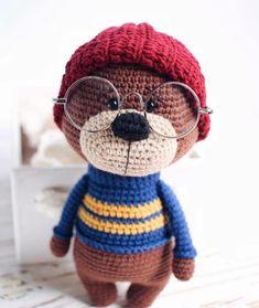 Crochet Bear Patterns, Crochet Doll Pattern, Amigurumi Patterns, Amigurumi Toys, Crochet Teddy, Crochet Fox, Free Crochet, Tiny Teddies, Bear Toy