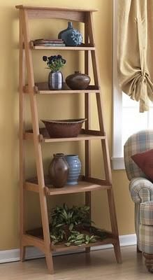 DIY Ladder / IDEAS & INSPIRATIONS: Ladder Shelves - CotCozy
