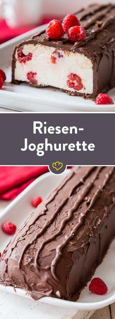 Riesen-Joghurette mit Himbeeren - galletas - Las recetas más prácticas y fáciles No Bake Desserts, Delicious Desserts, Yummy Food, Tasty, Sweet Recipes, Cake Recipes, Dessert Recipes, Food Cakes, Sweet Cakes