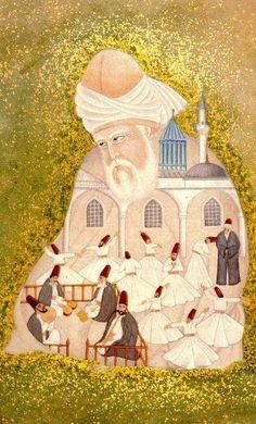 """Mevlana Celaleddin-i Rumi    """"Gel, gel, ne olursan ol yine gel. Bizim dergahımız ümitsizlik dergahı değildir, yüz kere tövbeni bozmuş olsan da yine gel…"""""""