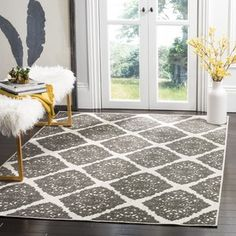 The Mannox Cream/Gray Indoor/Outdoor Area Rug is made with a polypropylene and polyester and uses the latest colors to create a modern classic look that will be featured in any room. Indoor Outdoor Carpet, Indoor Outdoor Area Rugs, Outdoor Areas, Cottage Rugs, Damask Rug, Kitchen On A Budget, Kitchen Ideas, Easy Home Decor, Online Home Decor Stores