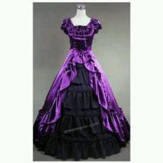 Cheap dresses less than Buy Quality victorian gothic dress directly from China dress shipping Suppliers: Attractive Purple and Black Victorian Dress Long Satin Dress Victorian Dresses For Sale, Victorian Corset Dress, Victorian Ball Gowns, Victorian Costume, Gothic Dress, Lolita Dress, Gothic Lolita, Gothic Gowns, Victorian Dresses