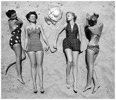 Summer fashions, photo by Nina Leen, April 1950