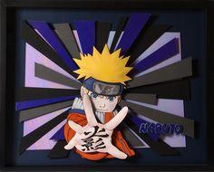Naruto - Paper Sculpture by Vlady e Helena Keiko - Exposição Mangá 3D