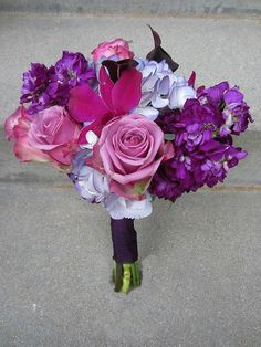 Purple Bridal Bouquets | Bella Rosa Floral Design