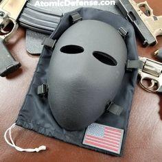 44 Magnum, The Face, Full Face, Ballistic Mask, Shotgun Slug, Taiwan, Black Hold, Home Defense, Military Gear
