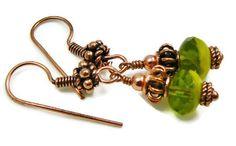 Copper Beaded Earrings Bohemian Earrings by GemstonesOnMyMind, $15.95 #etsysns #shopetsy #boebot