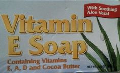 Natural Vitamin E Soap with Cocoa Butter Vitamins A D  Aloe Vera Naturesmart #Naturesmart