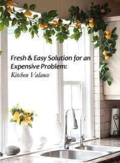 Fresh Solution to an Expensive Problem: Kitchen Valance | Maria Killam