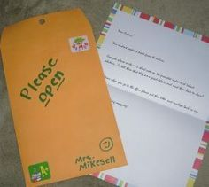 """Do you ever have a student that just needs to get out of the room for a minute and get a new perspective? Give them """"The mysterious envelope"""" to deliver! This is brilliant!"""