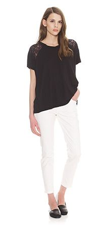 Whistles Abbie Lace Insert Tee