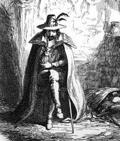 Guy Fawkes - seen in an illustration by Cruikshanks