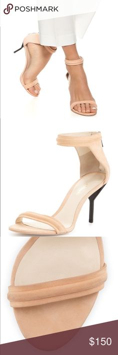 3.1 Phillip Lim Martini Leather Mid Heel Sandal Peach Color! Worn a few times- in light they look slightly worn. Get lots of compliments on these!!! Beautiful on!! 3.1 Phillip Lim Shoes Sandals