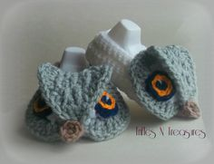 Majestic Owl Booties $5.00