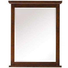 6123c5130a Framed Wall Mirror in Espresso Frames On Wall
