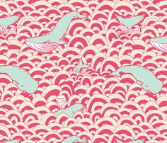 Whale of a Time fabric by momshoo on Spoonflower - custom fabric