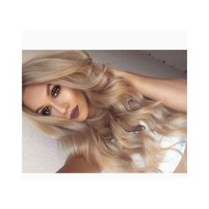 Sexy Long Wavy Middle Part Lace Front Human Hair Wigs 24 Inches ❤ liked on Polyvore featuring hair