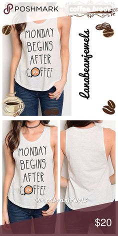🆕AVAILABLE NOW👜🤗 Sleeveless Jersey Tank Top😜☕️ Light gray fashion tank top that loosely fits your shape☺️ Super cute for a chill kind of day🙌   True to size with a loose fit!😘  60% Cotton 40% Polyester Tops Tank Tops