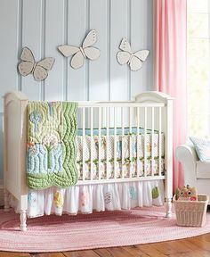 Brooke Nursery - blue and pink and green