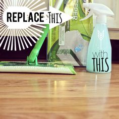 {home-made} LAMINATE FLOOR CLEANER using 3 ingredients! Replace those swiffer pads and make your own cleaner....AND save $$ in the process!!