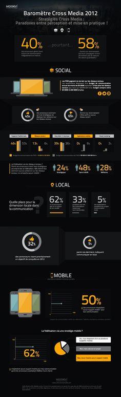 Baromètre cross media 2012-SOLOMO  Les annonceurs utilisent-ils vraiment les bons outils cross-média? #infographie #ingographic