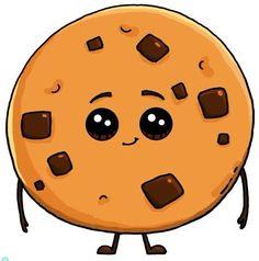 Chip Cookie Cokies Com Gotas De ChocolatesChocolate Chip Cookie Cokies Com Gotas De Chocolates Kawaii Girl Drawings, Cute Food Drawings, Cute Animal Drawings Kawaii, Cute Little Drawings, Cute Disney Drawings, Doodle Drawings, Cartoon Drawings, Food Kawaii, 365 Kawaii