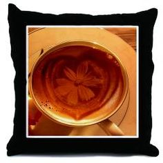 coffee - flower Throw Pillow by MehrFarbeimLeben - CafePress Coffee Flower, Altered Images, Designer Throw Pillows, Color Combinations, Coffee Shop, Flowers, Food, Coffee Shop Business, Meal