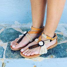 RiRiPoM Handmade Leather Sandals Boho Sandals Greek