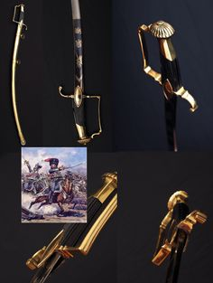 French Imperial Guard Officer Scout Sword:   According to the french expert Christian Ariés, this sword is attributed to the Imperial Guard's scouts, the  Éclaireurs of the Guard, created in 1813 after the return of the Naopleon Russian campaign.