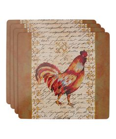 Loving this Provence Rooster Cork Place Mat - Set of Four on #zulily! #zulilyfinds