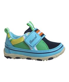 Take a look at the Blue & Green Stripe Sneaker on #zulily today!