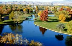 Ann Morrison Park.  One of several large parks located on the Boise River in the middle of town.