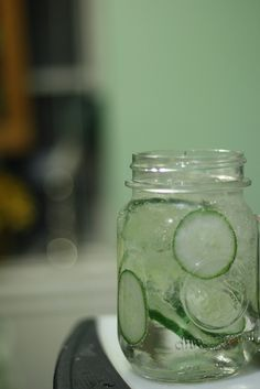 Gin and tonic and cucumber