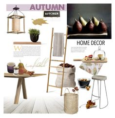 """""""Autumn Kitchen"""" by rever-de-paris ❤ liked on Polyvore featuring interior, interiors, interior design, home, home decor, interior decorating, Bardwil, French Connection, Eva Solo and Skagerak"""