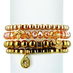 It's never too late or too soon to support Fisher House Foundation with this holiday gold set of four bracelets. http://www.chavezforcharity.com/collections/fisher-house-foundation-gold/products/holiday-gold-set-of-four