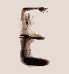 Lettre H : Historical Human Alphabets (ABC historique des alphabets anthropomorphes)