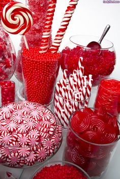 Red Candy Buffet - for Christmas - bjl