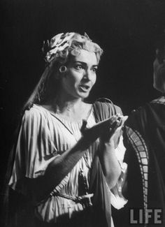 Maria Callas by Gordon Parks in Norma by Vincenzo Bellini, Metropolitan Opera House, New York, 1956