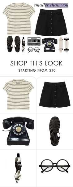 """""""these demons are smaller than you;"""" by quievi ❤ liked on Polyvore featuring Monki, Lily Black, CASSETTE and Retrò"""
