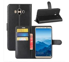 Huawei Mate 10 Litchi Texture PU + TPU Horizontal Flip Leather Case with Holder & Card Slots & Wallet (Black) Leather Case, Smartphone, Texture, Wallet, Electronics, Cards, Black, Leather Pencil Case, Surface Finish
