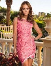 Lipsy Asymmetric Lace Bodycon Dress