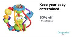 """Help me drop the price of the Bright Starts Activity Ball to $4.00 (83% off). The price continues dropping as more moms click """"Drop the price"""". Moms drop prices of kids & baby products by sharing them with each other."""