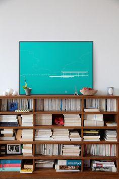 Láminas de arquitectura. Casa Farnsworth. Van der Rohe.  50 x 70 cm.  32 euros