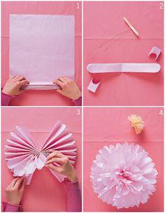 Tissue paper pom-poms...so many possibilities!