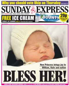 Princess Charlotte Elizabeth Diana was born on Saturday May 2 2015 at London's St Mary's Hospital, weighing 8lbs 3oz (3.7kg) Bless Her!