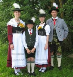 Germany: Miesbach, Bavaria FolkCostume&Embroidery: Overview of the Folk Costumes of Europe Traditional German Clothing, Traditional Fashion, Traditional Dresses, Folk Clothing, Historical Clothing, German Costume, German Outfit, German Folk, Costumes Around The World