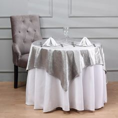 54'' x 54'' | Silver Premium Velvet Square Table Overlay Chair Covers, Table Covers, Silver Wedding Decorations, Table Decorations, Banquet Tables, Party Tables, Table Overlays, Floral Tablecloth, Tablecloth Sizes