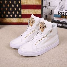 Sneakers Medusa logo Versace shoes High top Men original 70%off