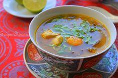 Soupe chinoise crevettes poulet & vermicelles