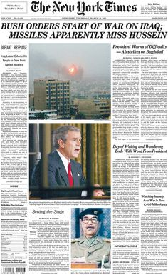 New York City | What Newspapers Looked Like The Day We Invaded Iraq
